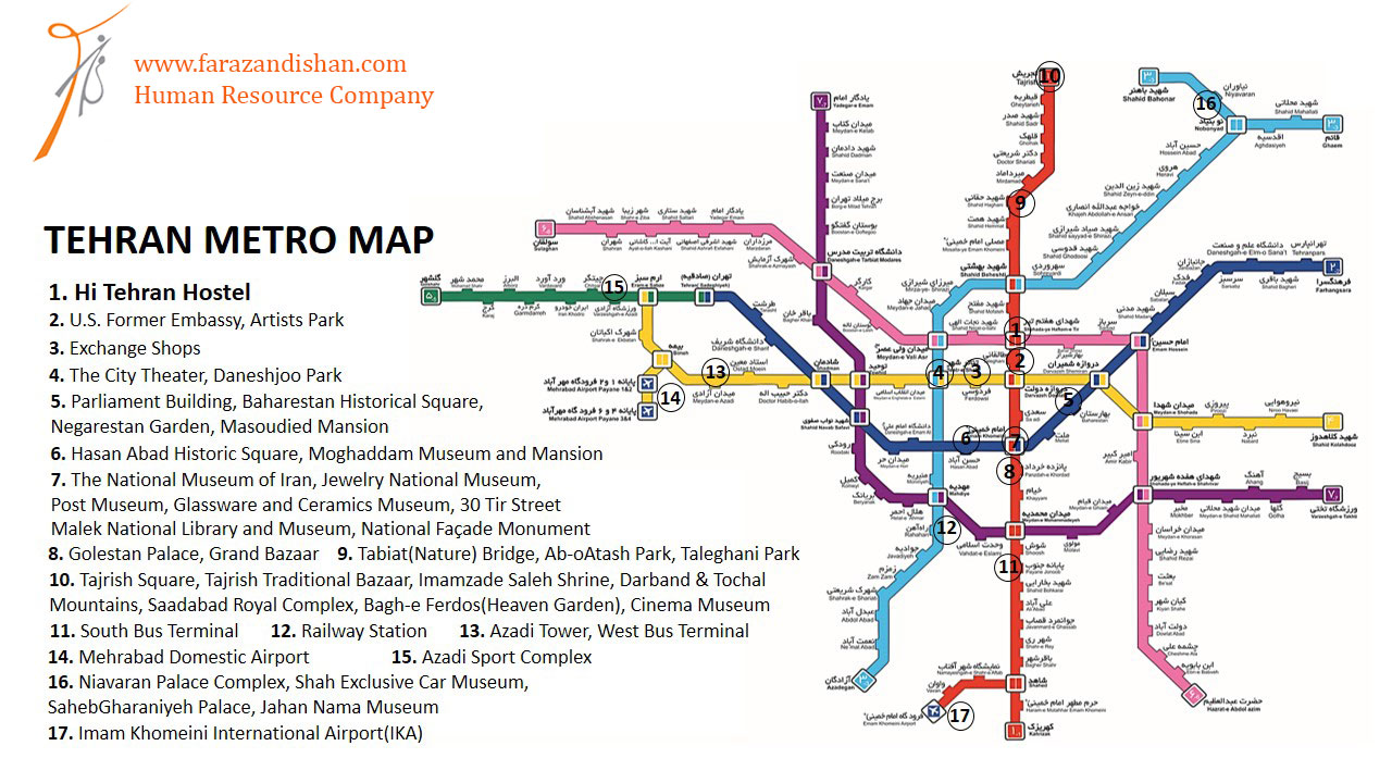 Tehran Subway Map.Top 10 Punto Medio Noticias Tehran Metro Map English