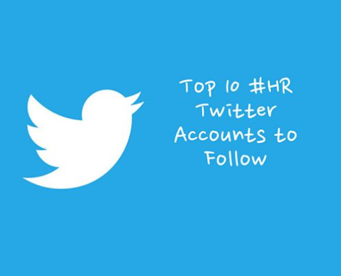 top 10 #HR accounts to follow